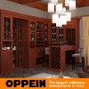 Cremagliera di legno classica del vino del PVC del Brown dell'anatra di Oppein grande (JG21536)