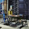 금속 의자와 덮개를 씌운 의자 (SP-CT801)를 가진 산업 작풍 대중음식점 가구 세트
