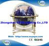 Globo de Gemstone do azul de oceano 150mm/220mm/330m do Sell de Yaye 18 bom com carrinho do metal do ouro