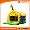 Раздувной Giraffe игрушки скача оживлённый хвастун замока (T1-002)