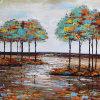 Pintura al óleo abstracta para los árboles (ZH4013)