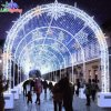 Indicatori luminosi di motivo di natale dell'arco della decorazione LED 3D di festa per la via