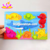 Jouets colorimétriques en bois d'animaux neufs de dessin animé les plus chauds pour les enfants en bas âge W14c254