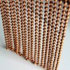 Custom Copper Color Plated Steel Metal Bead Hanging Chain Curtain