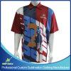 Chemise de polo de la meilleure qualité d'uniformes d'équipe de bowling de pleine sublimation faite sur commande avec des logos de parraineur