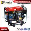 generatore diesel 4kVA con le rotelle e le maniglie