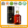 Ronda personalizada na caixa de vinho de metal de estanho para Whisky Vodka Vintage
