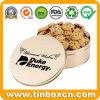 Imballaggio per alimenti del contenitore rotondo di stagno per i biscotti del biscotto del cioccolato dello spuntino