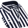 Camicia bianca dell'ufficio della banda del &Black con del tasto il collare giù (WXM874)