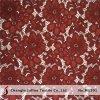 Ткань шнурка цвета вина тяжелая флористическая (M1391)