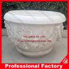 Pot de pot et vase en pierre, Flowerpot & Vase de jardin, sculpture sur marbre
