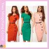 卸し売りヨーロッパ人およびAmerican Style Button Fashion Slimming Pencil Dress