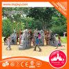 Campo de jogos de escalada da corrediça plástica das crianças do equipamento do divertimento