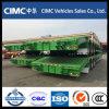 Cimc 3 Semi Aanhangwagen van het Bed van de As 70tons de Lage met de Helling van de Lente voor Algerije