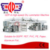 Machine feuilletante sèche à grande vitesse de papier d'aluminium de série de Qdf-a