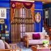 Ткань занавеса спальни изготовления роскошная с заплаткой
