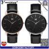 YXL-467 2016 de la venta caliente hombres del diseño de la alta calidad promocional reloj de señoras del cuero auténtico relojes del reloj del reloj de cuarzo suizo automático OEM