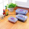contenitore di alimento di plastica stabilito di 3PCS pp