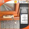 La saldatura senza giunte di stile elegante congiunge la finestra della lega di alluminio, finestra di alluminio placcata di legno della stoffa per tendine di stile dell'America