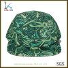 Sombrero en blanco floral de los 5 paneles del nuevo diseño verde de encargo de la manera