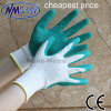 Nmsafety 10g полиэстер Shell покрытием ладони перчатки Green Латекс Топ Работа