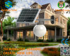 Luminaires solaires intégrés Moon Street Light pour l'extérieur utilisant