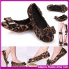 2015 HighqualityおよびEuropean Style (D001259)のFashion Design Leopard Flat Shoes