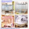 Dekorative Bett-Überdachung-Moskito-Filetarbeit, rechteckiges Palast-Moskito-Netz