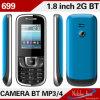 $7.5-$10 O telefone de pilha duplo o mais barato do MP3 do cartão de SIM (699)