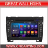 Bluetooth A9 CPU 1g RAM 8g Inland Capatitive Touch Screenを搭載するGreat Wall H3/H5のための純粋なAndroid 4.4.4 Car GPS Player。 (AD-9375)