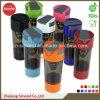 bottiglia dell'agitatore 600ml con i contenitori della pillola (SB6001)