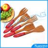 Spoon di bambù con Silicone Handle per Red Color