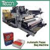 Automático de alta velocidad de la bolsa de la válvula de papel Kraft químico que hace la máquina