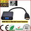 Maschio nero di HDMI al convertitore femminile del VGA RGB (HL-126)