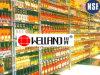 Estantes de exhibición ajustables del alimento conservado del metal del cromo para el supermercado/el almacén