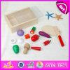 Il giocattolo di legno di taglio del prodotto più popolare 2015, giocattolo educativo del gioco di verdure di taglio, finge il giocattolo di verdure W10b115 di taglio di legno