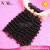 o cabelo humano não processado do cabelo Curly profundo peruano do Virgin da onda 9A tece o cabelo Curly peruano