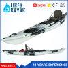 Nuevo plástico moldeado Roto solo Mar Kayak de pesca con timón y bastidor de aluminio Asiento cómodo