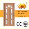 Beautiulデザインガラス挿入PVC MDFのドア(SC-P086)