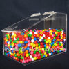 Caja de acrílico del caramelo de la nueva compra especial con la tapa con bisagras