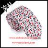 Mens floral de relation étroite de mode estampé par coton fabriqué à la main