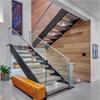 Escaleras de cristal de la escalera del pasamano de la barandilla del larguero de encargo de interior del acero suave