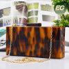 Saco do partido do saco de mão das senhoras de saco da embreagem da forma do saco de noite da grão de Leapard para a mulher da fábrica Eb906 de China