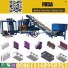 Qt hidráulico4-18 bloque hueco Maker Máquina instalada en Belice