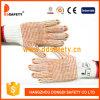 2017 Ddsafety хлопок полиэстер перчатки с красными точками PVC обеих сторон
