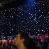 2018結婚式または党装飾のための最も新しいLEDの星のカーテンか星の背景幕