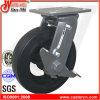 6 Zoll-bester Preis-Gummischwenker-Fußrolle mit seitlicher Bremse