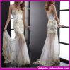 2015 nouveau Design européen Lace sans bretelles avec Spelling un Flower Long Gown/Evening Dress (w-93324)