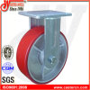 rueda rígida del echador de la PU del rojo resistente 5  X2