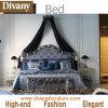 Кровать новой классицистической кровати виллы типа столба самомоднейшей роскошной королевская (BA-1402)